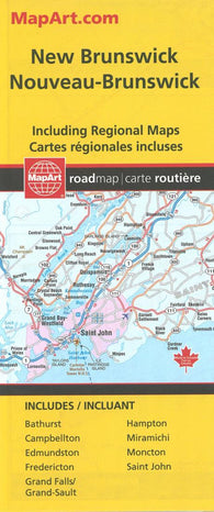 Buy map New Brunswick Road Map by Canadian Cartographics Corporation
