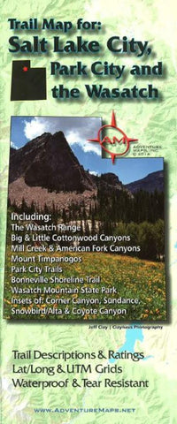Buy map Salt Lake City, Park City, and the Wasatch, Trail Map by Adventure Maps