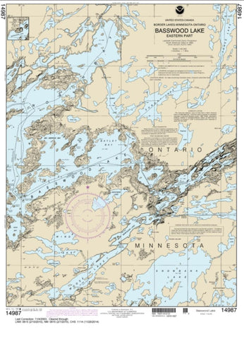 Buy map Basswood Lake, Eastern Part (14987-9) by NOAA