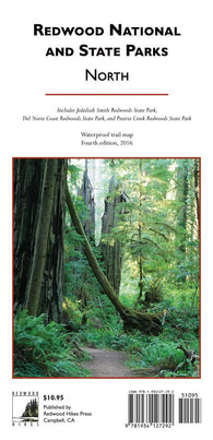 Buy map Redwood National and State Parks, Northern by Redwood Hikes Press