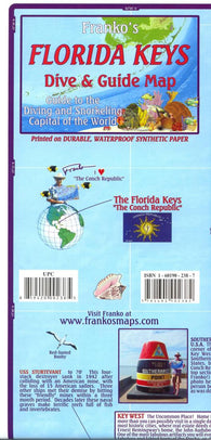Buy map Florida Map, Florida Keys Guide and Dive, folded, 2010 by Frankos Maps Ltd.