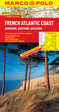 Buy map French Atlantic Coast by Marco Polo Travel Publishing Ltd