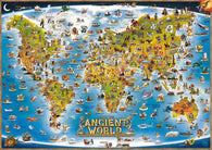 Buy map Dinos World, Ancient Illustrated by Dino Maps