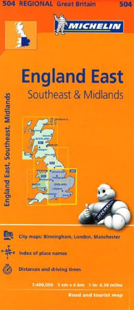 Buy map England, Southeast, The Midlands and East Anglia (504) by Michelin Maps and Guides