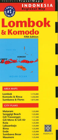 Buy map Lombok and Komodo, Indonesia by Periplus Editions