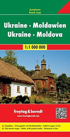 Buy map Ukraine and Moldova by Freytag-Berndt und Artaria