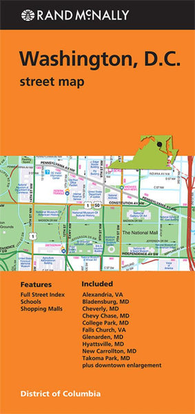 Buy map Washington D.C. by Rand McNally