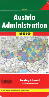 Buy map Austria, Administrative by Freytag-Berndt und Artaria