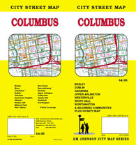 Buy map Columbus, Ohio by GM Johnson