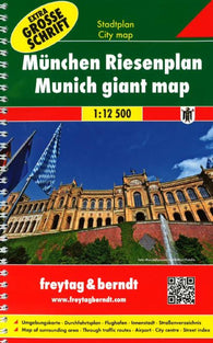 Buy map Munich, Germany, Large Print Pocket Atlas by Freytag-Berndt und Artaria