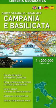 Buy map Campania and Basilicata, Road Map by Libreria Geografica