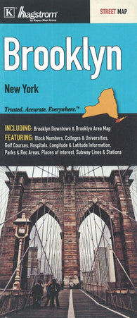Buy map Brooklyn, New York by Kappa Map Group