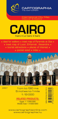 Buy map Cairo, Egypt by Cartographia