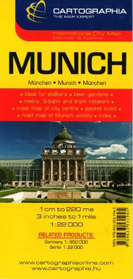 Buy map Munich, Germany by Cartographia
