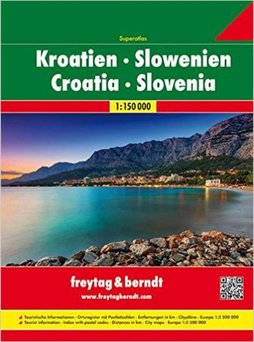 Buy map Croatia and Slovenia, Atlas by Freytag-Berndt und Artaria