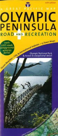 Buy map Olympic Peninsula, Road and Recreation by Great Pacific Recreation & Travel Maps
