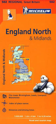 Buy map England, Northern and The Midlands (502) by Michelin Maps and Guides