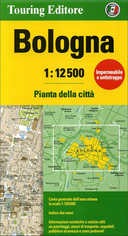 Buy map Bologna, Italy by Touring Club Italiano