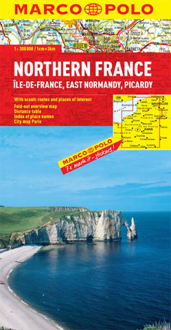 Buy map France, Northern (East Normandy, Picardy, Ile de France) by Marco Polo Travel Publishing Ltd