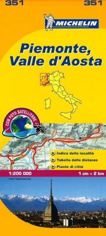 Buy map Piemonte and Valle DAosta, Italy (351) by Michelin Maps and Guides