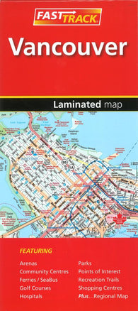 Buy map Vancouver, British Columbia Fast Track Laminated Map by Canadian Cartographics Corporation