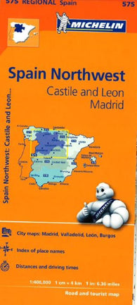 Buy map Castilla y Leon and Madrid, Spain (575) by Michelin Maps and Guides