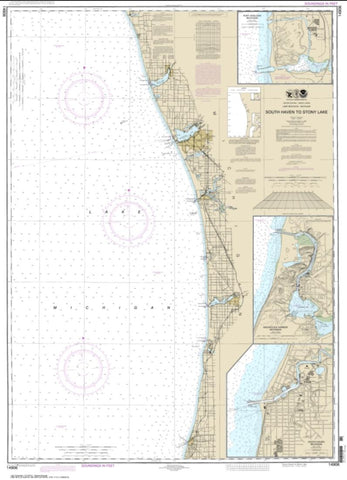 Buy map South Haven to Stony Lake; South Haven; Port Sheldon; Saugatuck Harbor (14906-25) by NOAA
