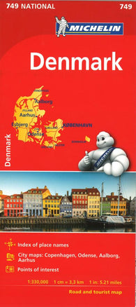 Buy map Michelin: Denmark Road and Tourist Map by Michelin Travel Partner