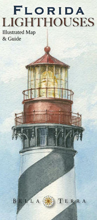 Buy map Florida Lighthouses Map by Bella Terra Publishing LLC