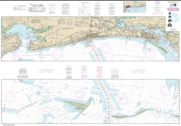 Buy map Intracoastal Waterway Dog Keys Pass to Waveland (11372-35) by NOAA