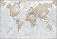 Buy map World as Art Neutral by Maps International Ltd.