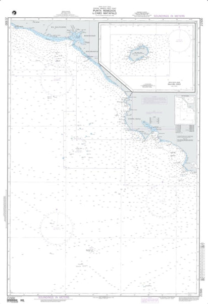Buy map Punta Remedios To Cabo Matapalo (NGA-21500-1) by National Geospatial-Intelligence Agency