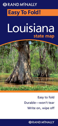 Buy map Louisiana, Easy to Fold by Rand McNally