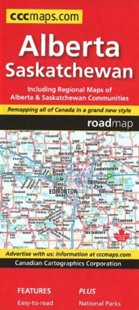Buy map Alberta and Saskatchewan Road Map by Canadian Cartographics Corporation