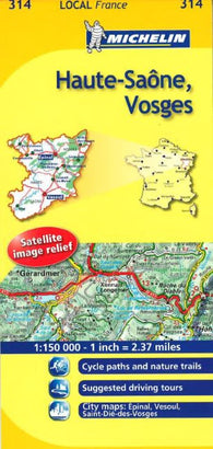 Buy map Haute-Saone, Vosges (314) by Michelin Maps and Guides