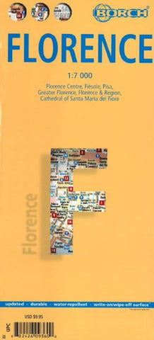 Buy map Florence, Italy by Borch GmbH.