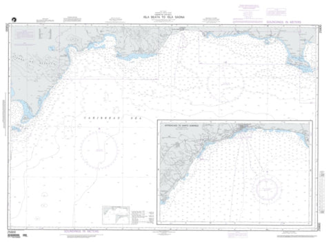 Buy map Isla Beata To Isla Saona (NGA-25800-3) by National Geospatial-Intelligence Agency