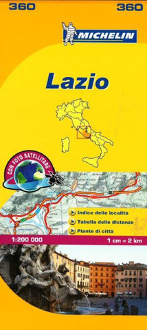 Buy map Lazio, Italy (360) by Michelin Maps and Guides