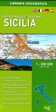 Buy map Sicily, Road Map by Libreria Geografica