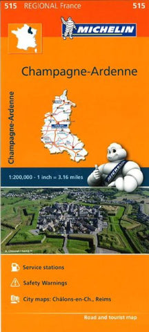 Buy map Champagne, Ardennes (515) by Michelin Maps and Guides