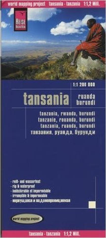 Buy map Tanzania, Rwanda, and Burundi by Reise Know-How Verlag