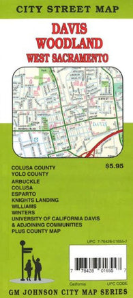 Buy map Yolo County, Davis, Woodland, Glen County and Colusa County, California by GM Johnson