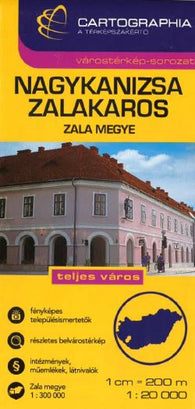 Buy map Nagykanizsa and Zalakaros, Hungary by Cartographia
