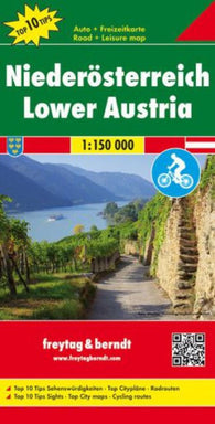 Buy map Austria, Lower by Freytag-Berndt und Artaria