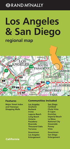 Buy map Los Angeles and San Diego, California Regional by Rand McNally