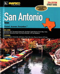 Buy map San Antonio, Texas, Atlas, with 65 surrounding communities by Kappa Map Group