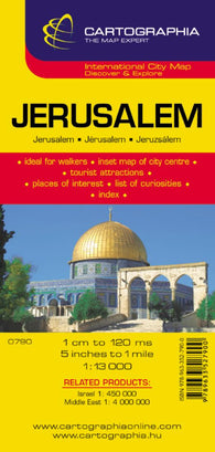 Buy map Jerusalem, Israel by Cartographia