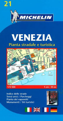 Buy map Venice and Mestre, Italy (21) by Michelin Maps and Guides