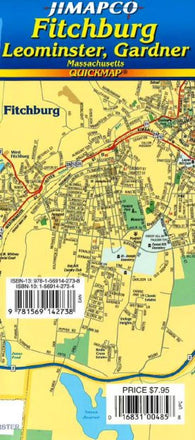 Buy map Fitchburg, Leominster and Gardner, Massachusetts, Quickmap by Jimapco