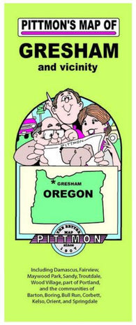 Buy map Gresham, Oregon by Pittmon Map Company